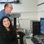 Simran Handa BA '19 works with Greg Hermann, professor of biology and department chair,  on his...