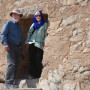 2016: Paul Barker BA '71, MAT '81 and his wife, Nora, in the doorway of a Zoroastrian Tower o...