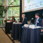 U.S. Senator Jeff Merkley (second from left) was one of several high-profile speakers at the conf...