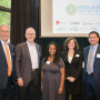 Wim Wiewel, president of Lewis & Clark; Mike Garland, president and CEO, Pattern Energy; Tari...