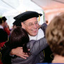 Reception Following the installation ceremony, guests mingled under a tent in the academic quadra...