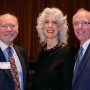 Trustee Patrick Nielson BA '71and Dorris Nielson with Trustee Scott Dubchansky.