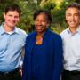 Brian Detweiler-Bedell, the center's academic director; Tuajuanda Jordan, dean of the College o...