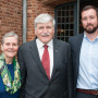 Joann Geddes, Lt. General Romeo Dallaire, and Michael Graham BA '05.