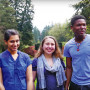 Project for Peace team members: Parul Sohal CAS '17, Kayla Nachtsheim B.A. '15, and Valcourt ...