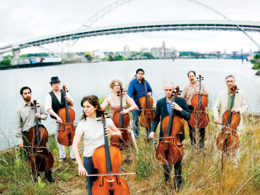Members of the Portland Cello Project.