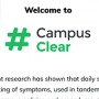 Screenshot from the #CampusClear app