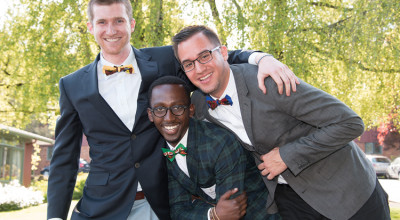 Wade Higgins CAS '13, Matthew Rugamba CAS '13, and Anthony Ruiz CAS '13