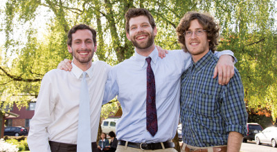 Zachary Tobias B.A. '12, Ryan Bubriski B.A. '12, and Will Fortini B.A. '12