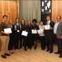 1st and 2nd Place Pitch Contest Winners with Center for Entrepreneurship Directors:  [Left to Rig...