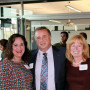 Lela Franco, Harley Franco '77, and Dean Jennifer Johnson visit during the Seattle Centennial C...