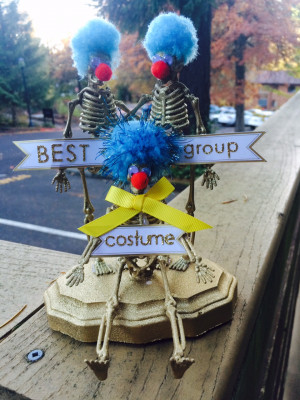 Best group costume trophy (created by Sustainability Manager and CARE Committee Member Amy Dvorak)
