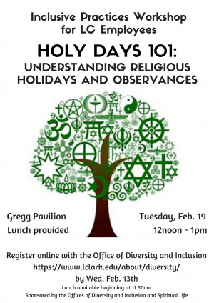 Inclusive Practices: Holy Days 101
