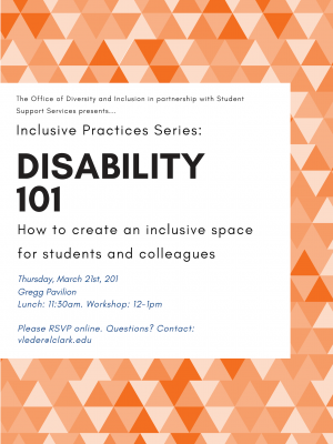 Inclusive Practices Series: Disability 101