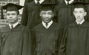 A young Martin Luther King, Jr. graduates from Morehouse College.
