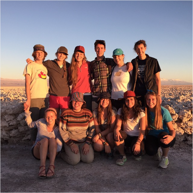Rebecca Kidder, CAS '16: The LC crew at Chile's largest salt flat, located in the Atacama desert!