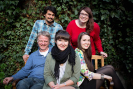 Sitting, from left to right: Ralf Saborrosch, Elizabeth Ekstrand, Christina Ritzer; Sstanding, ...