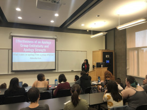 Psychology major Malavika Arun BA '19 presented on her intergroup apology research at the recen...