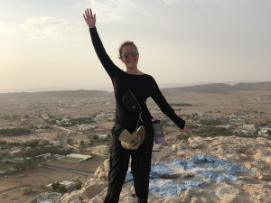 Grace Starling BA '20 taking in the sights during her time in Oman.