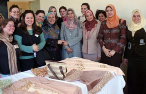 The faculty of Specific Education at MU's rural campus prepared a display of sewing and embroid...