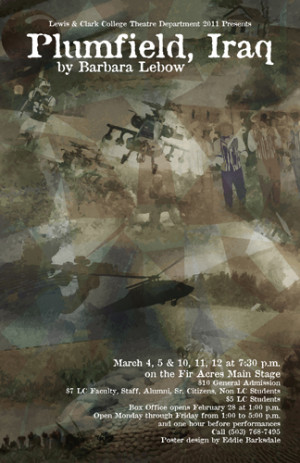 """Plumfield, Iraq"" poster (created by Eddie Barksdale '12)"