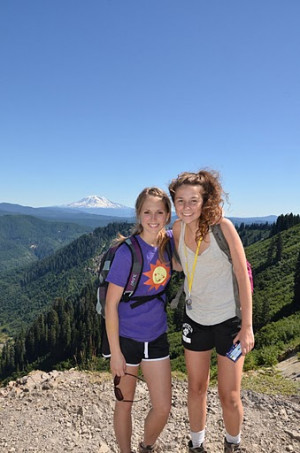 During a College Outdoors program in September, students backpacked Mount Saint Helens. Photo by ...