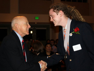 Robert Pirtle '14 was inducted into the Pamplin Society this fall