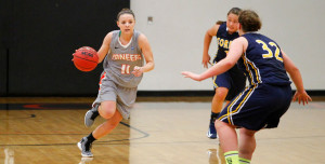 Katie Anderson '14 faced players from Corban University in a November tournament.