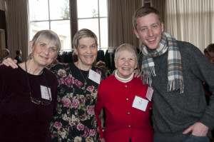 The Glarum family and Ethan Allred B.A. '12.