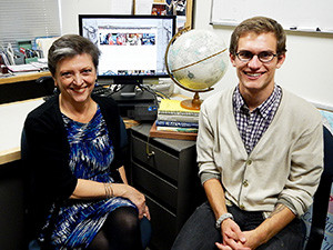 Associate Professor of Russian Tatiana Osipovich and David Salkowski '14