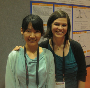 Aojie Zheng '15 and Assistant Professor of Physics Shannon O'Leary