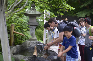 Students participate in an overseas program to Japan to study Mount Fuji.