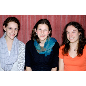 Marie Lafortune '10, Lila Forte B.A. '09, and Irena Bierzynski '11