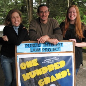 Directors of the 2010 Public Interest Law Project Auction, from left to right: Ellie Dawson, Adam...