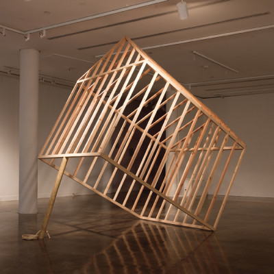 Bill Will (2006), House Trap, 2011, construction, 129 x 85 x 135 inches