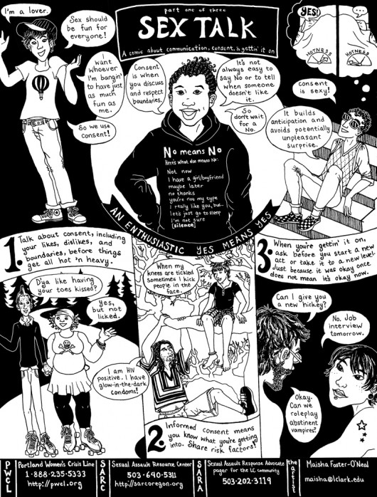 Sex Talk comic by Maisha Foster-O'Neal