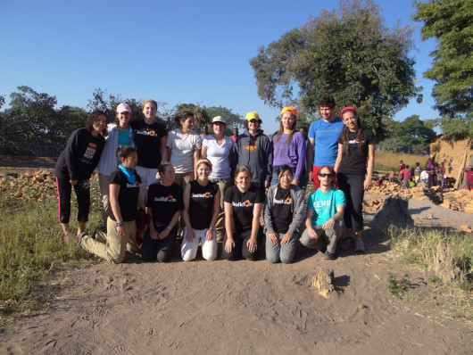 The entire Lewis & Clark BuildOn team in Malawi. From left to right (top row): Lana Sanford ?...