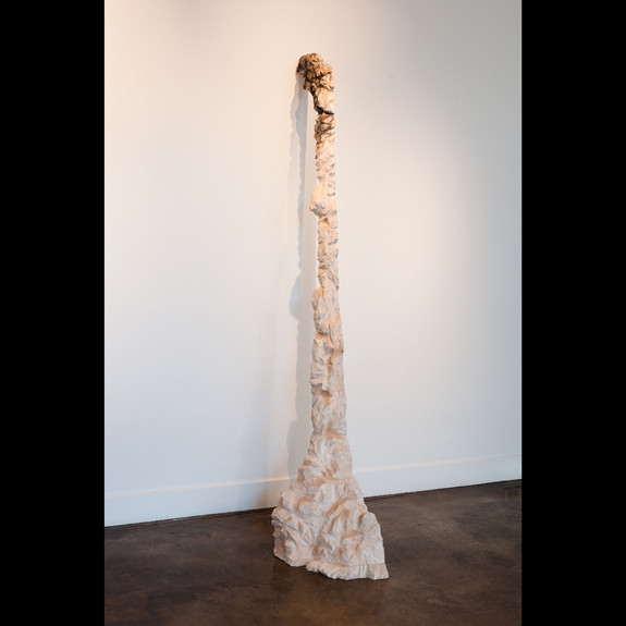 Christine Bourdette (1992), Slice, 2011, balsa wood, dry pigment, and gesso, 88.5 x 14.5 x 37.5 i...