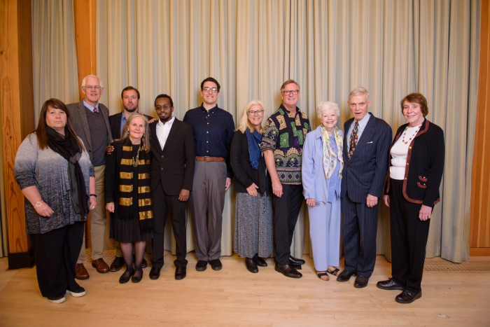Faculty, staff, students, alumni, and visiting dignitaries gathered at the Gregg Pavilion to comm...