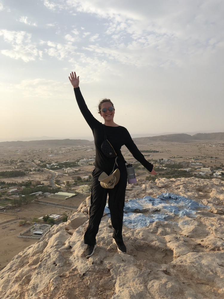 Grace Starling BA ?20 taking in the sights during her time in Oman.