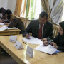Although it is taboo for Afghan men and women to work in groups together, professor Zaher Wahab p...