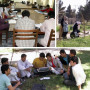 For college students, campus life at Kabul Education University includes library study (upper lef...