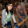 Megumi Nagata '13 and Andrew Janeba '11 volunteered at the Rebuilding Center during Spring in...