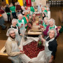 A group from Lewis & Clark helped package food at Oregon Food Bank in 2010.