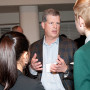 Mark Dorman B.S. '83 talks with students