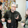 Associate Professor of Philosophy and Department Chair Jay Odenbaugh talks with students in Watze...