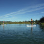 Stand up paddle boarding in Bend.
