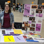 2019 Gender Studies Symposium cochair Zoe Maughan BA '19 tabling at New Student Orientation.