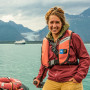 Julia Huggins BA '13 at the Lynn Canal, Alaska.
