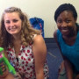 Ashley Hufnagle '15 and Jessica Isibor